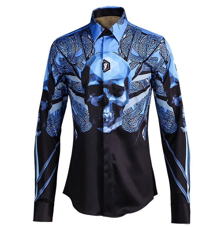 Luxury Leopard Long Sleeve Slim Fit Shirt
