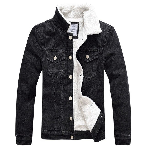 Velvet Cotton Denim Jacket