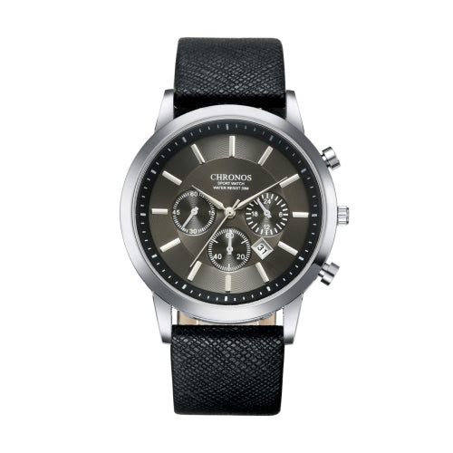 Leather Quartz Sport Luxury Watch