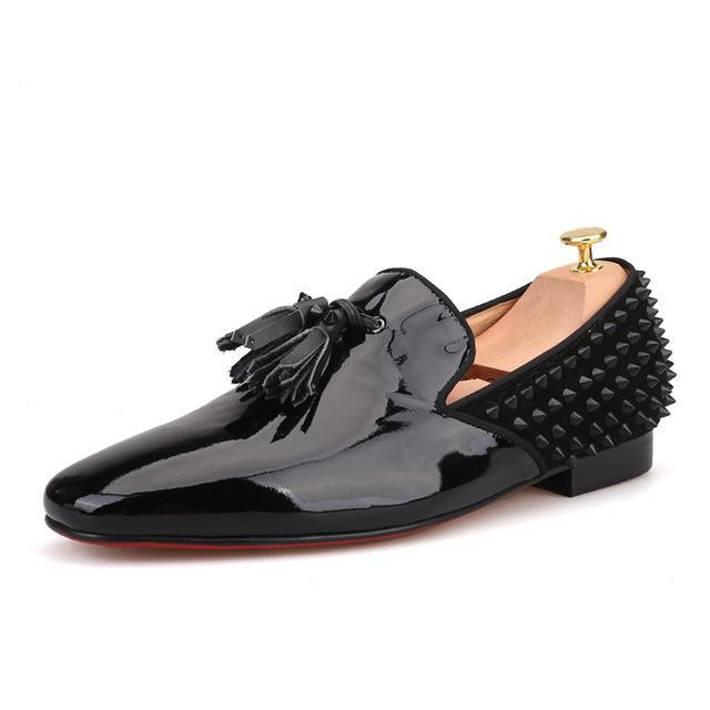 Black Patent leather spiked Loafer