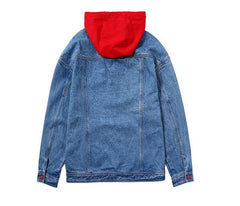Double Breasted hole jeans jacket