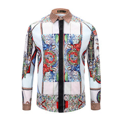 Retro Angel Print Long Sleeve Shirt