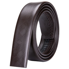 Brown Leather Waist Belt Strap