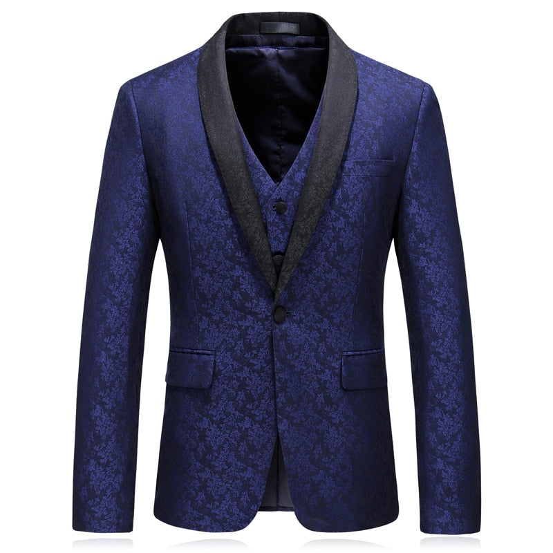 Red Wine Tuxedo Slim Fit Blazer