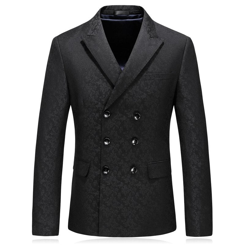 Double breasted classic black blazer