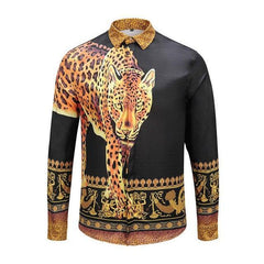 Gold Tiger Slim Fit Tuxedo Shirt