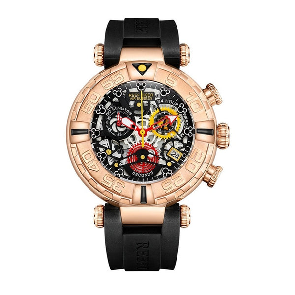 Chronograph Rose Gold Skeleton Watches
