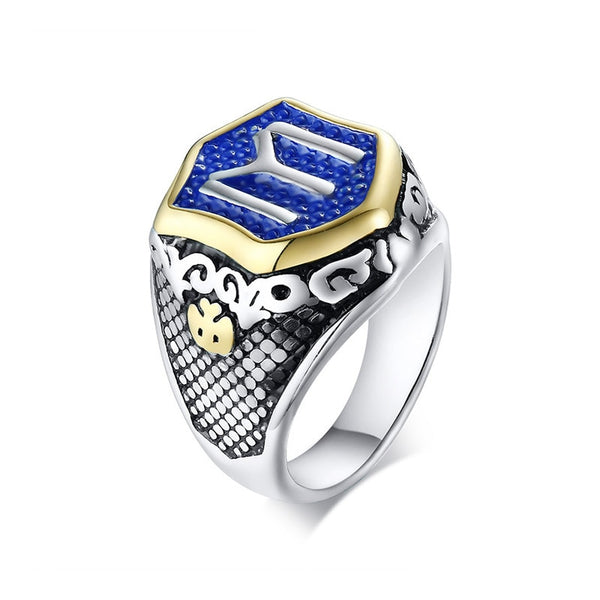 Flag Ottoman Empire Stainless Steel  Ring