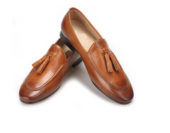 Leather Ltassel loafer