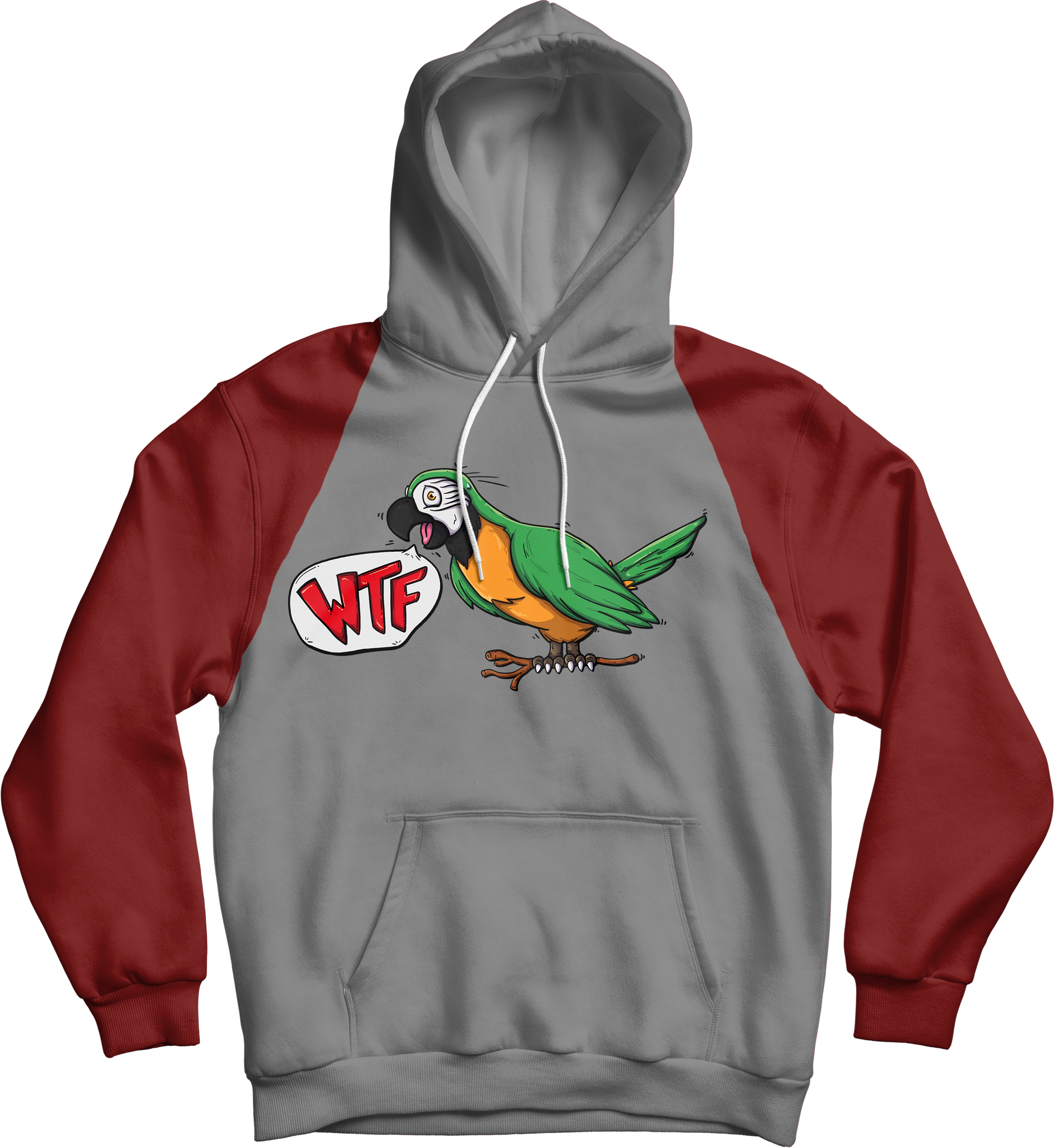 WTF Bird Hoodie (Red/Grey)