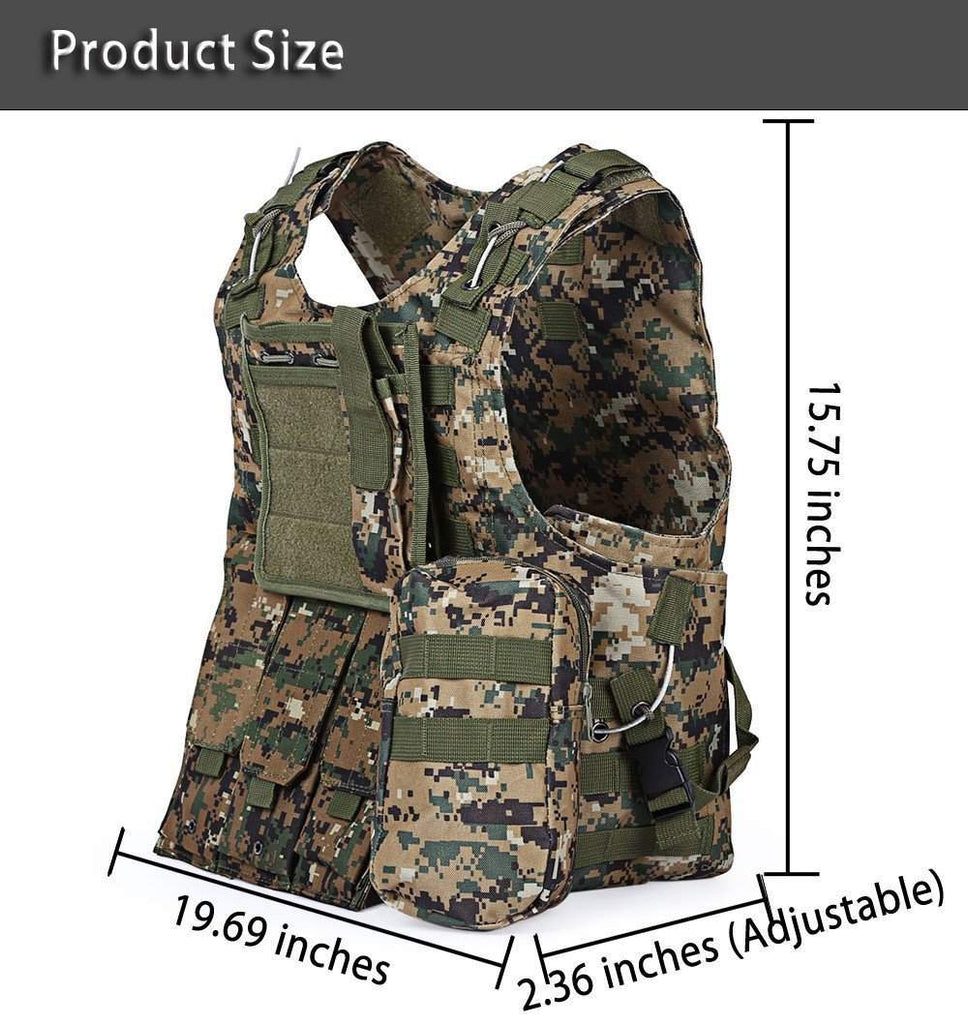 Hobbie Planet - Bag; Camouflage Hunting Vest