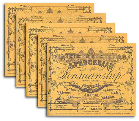 Spencerian Copybooks 1-5, Set, without Theory Book (Spencerian Penmanship)