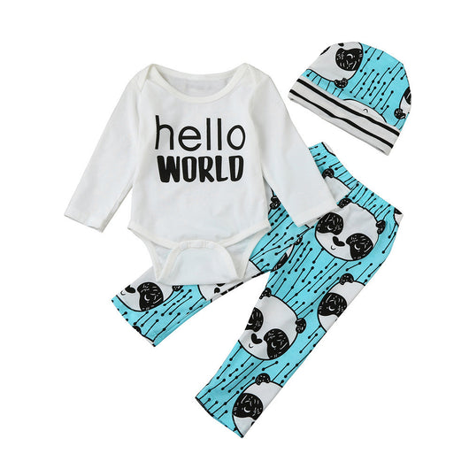 Conjunto body e calça hello world