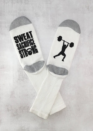 White Weightlifter Socks