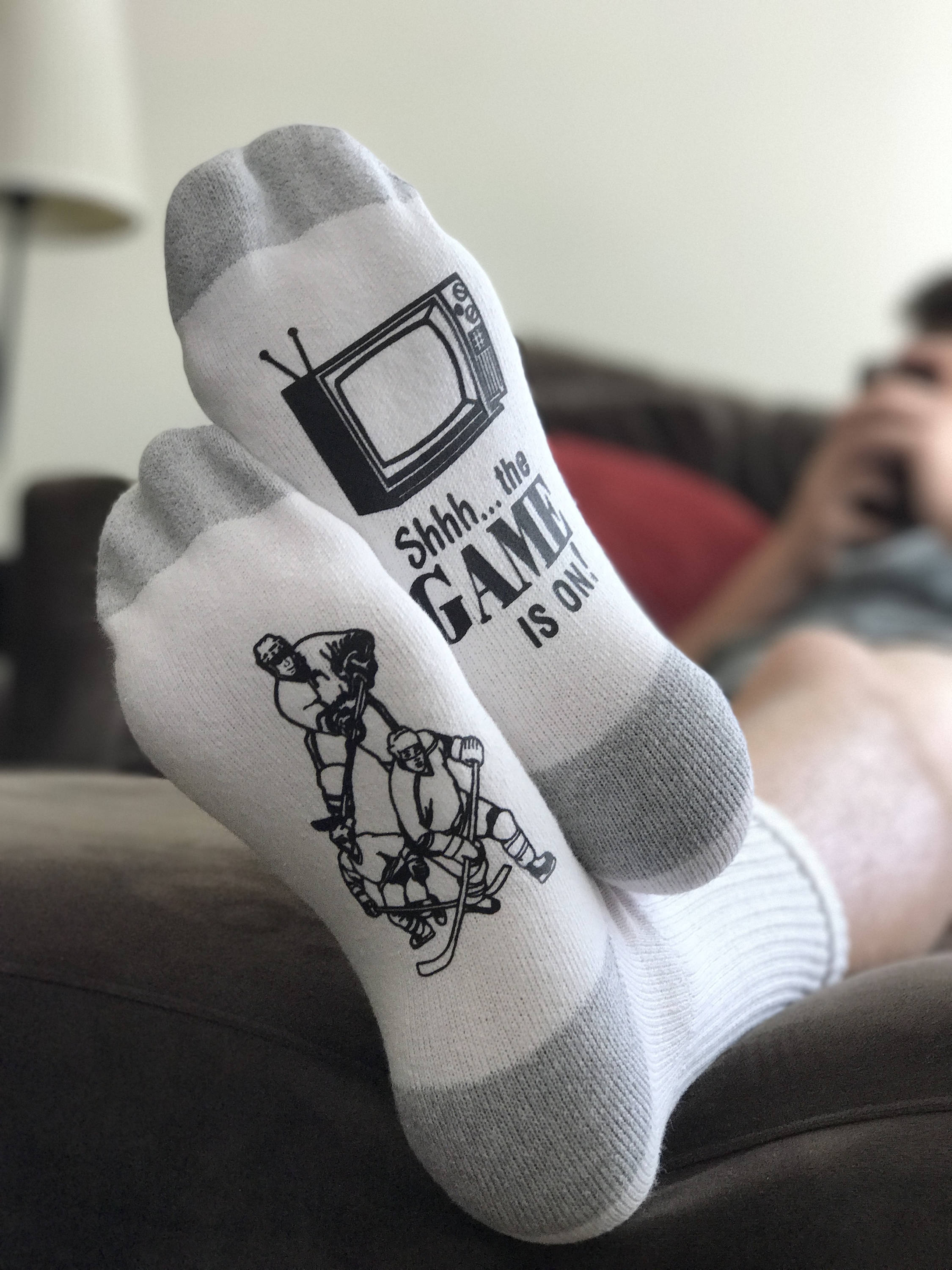 White Hockey Socks
