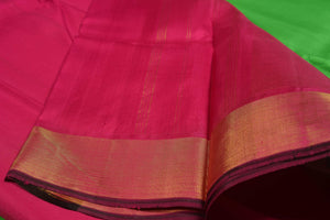 Temple Border Handwoven Kanjivaram Pure Silk Saree - Pure Zari - PVG58
