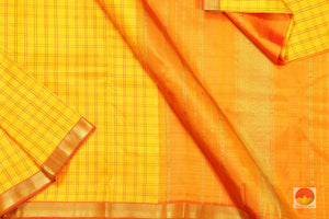 Lite Weight Handwoven Pure Silk Kanjivaram Saree - Pure Zari - PV G1682 Archives