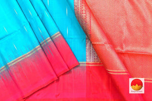 body, border and pallu of kanchipuram soft silk saree