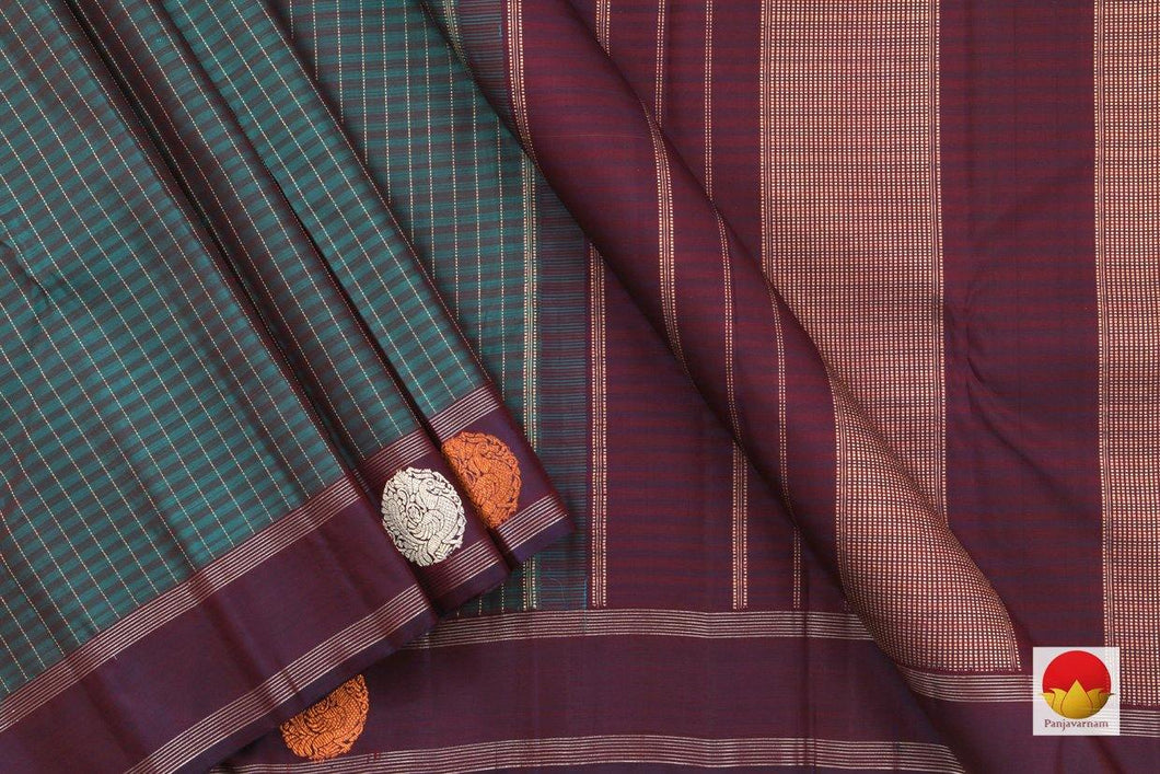 body, border and pallu of kanchipuram silk saree