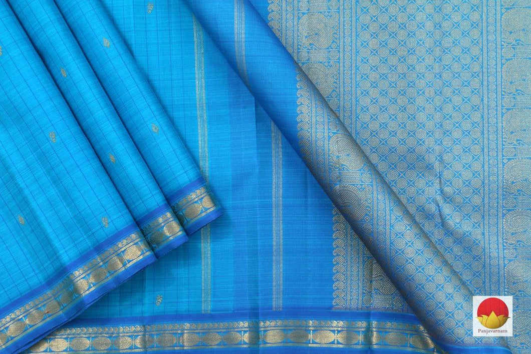 Kanchipuram Silk Saree - Handwoven Pure Silk - Pure Zari - PV G 4279