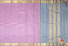 body and pallu of lavender kanjivaram pure silk saree