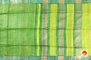 body, border and pallu of tussar silk saree