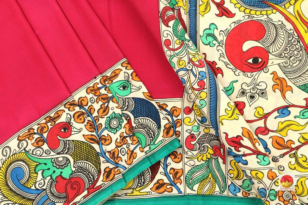 Kalamkari Silk Saree - Handpainted Saree - Organic Dyes - PKM 425 - Archives