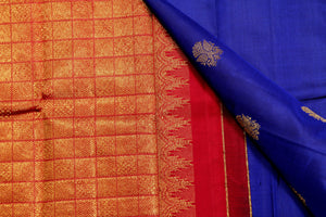 Borderless Handwoven Pure Silk Kanjivaram Silk Saree - Pure Zari -  AR02