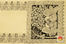 body, border and pallu details of kalamkari saree