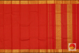 body, border and pallu details of kanchipuram silk saree