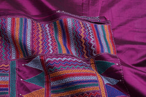 Kantha Work - Handwoven Pure Tussar Silk Saree - PT 59 Archives