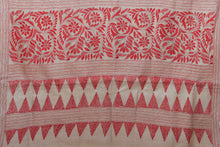 Kantha Work - Handwoven Pure Tussar Silk Saree - PT 21