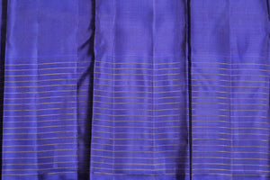 Silk blouse in blue of traditional design kanjivaram silk saree