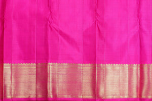 pink blouse of traditional design kanjivaram pure silk saree