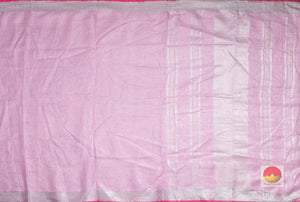 body and pallu of handwoven linen saree