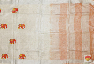 body, border and pallu detail in linen saree