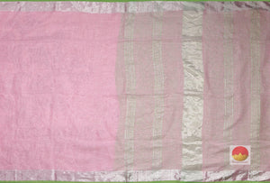 body and pallu of pink linen saree