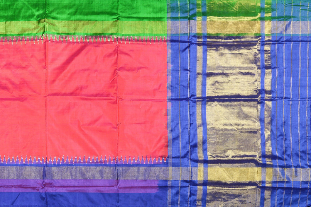 Full view of handwoven pochampally silk saree
