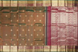 body and pallu of traditional design kanjivaram pure silk saree