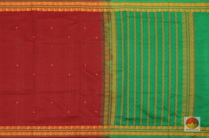 body, border and pallu detail in  polycotton saree