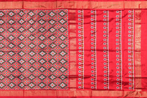 body and pallu of pochampally silk saree