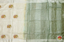 body, border and pallu of linen saree