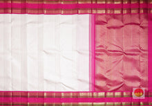 body and pallu of whte kanjivaram silk saree