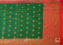body and pallu of banarasi matka silk saree
