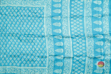 body and pallu of batik silk saree