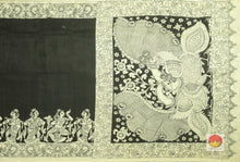 body and pallu of kalamkari silk saree