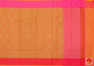 body, border and pallu of silk cotton saree