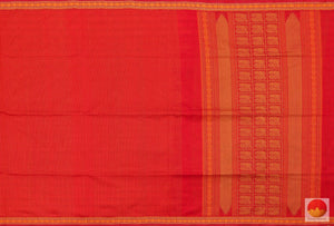 body and pallu of silk cotton saree