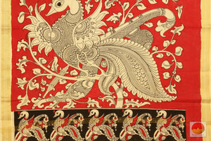 Handpainted Kalamkari Dupatta - Vegetable Dyes - KD 06