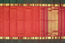 Traditional design kanjivaram pure silk sari with mat checks and  gold zari